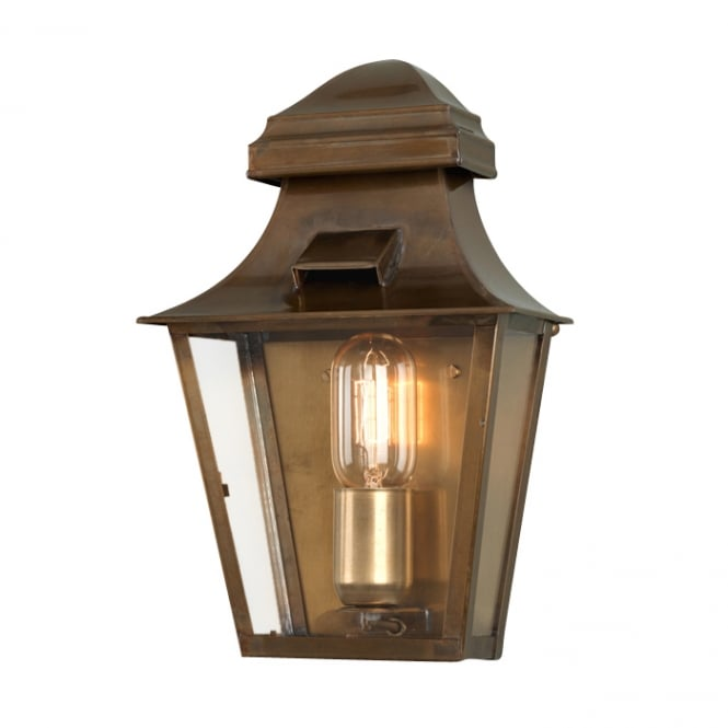 Elstead Lighting St Pauls Wall Lantern in a brass finish