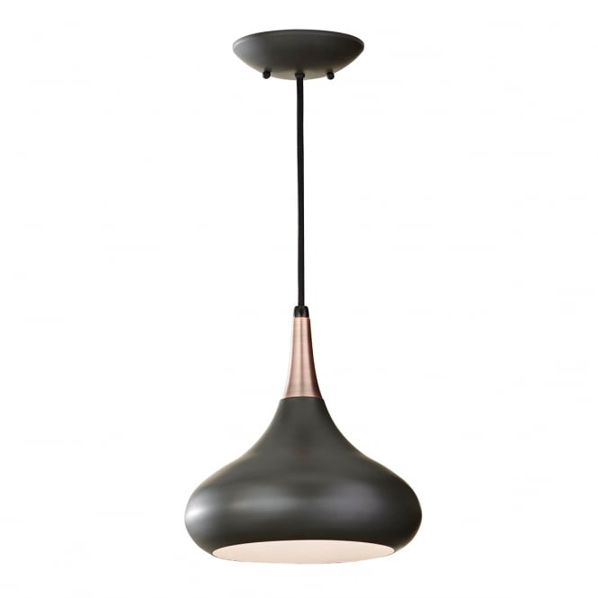 Feiss Beso 1 Light Pendant with a dark bronze finish