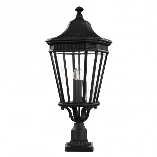 Feiss Cotswold Lane Large Pedestal with a black finish