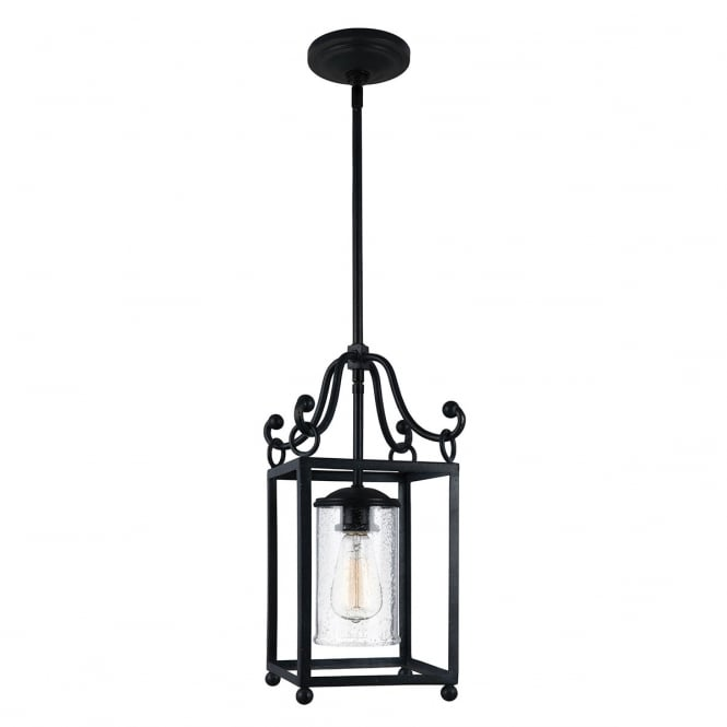 Feiss Declaration 1 Light Mini Pendant In Antique Forged Iron Finish