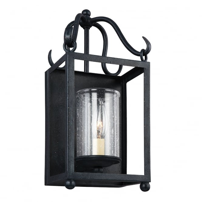 Feiss Declaration 1 Light Wall Light In Antique Forged Iron Finish