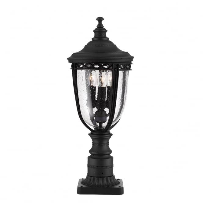 Feiss English Bridle 3 Light Medium Pedestal in a Black finish