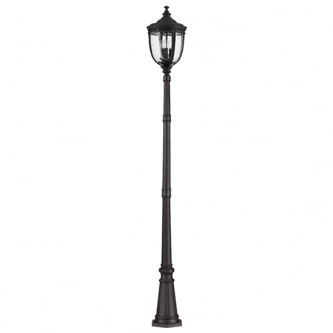 Feiss English Bridle Large Lamp Post in a Black finish