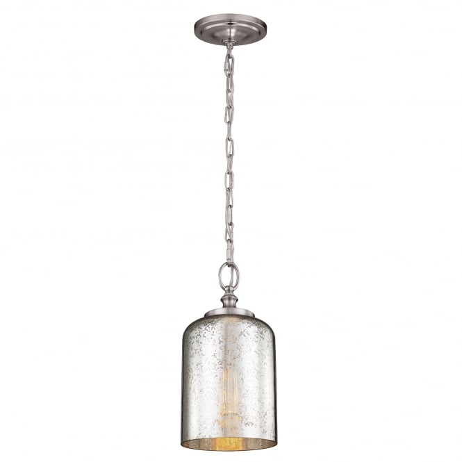 Feiss Hounslow Mini Pendant with a Brushed Steel finish