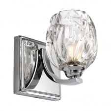 Kalli 1 Light Bathroom Wall Light In Polished Chrome Finish