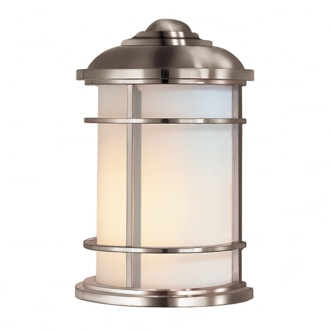 Feiss Lighthouse 1 Light Half Wall Lantern In Brushed Steel Finish