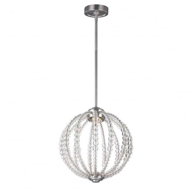 Feiss Oberlin 1 Light Small Led Pendant In Satin Nickel Finish