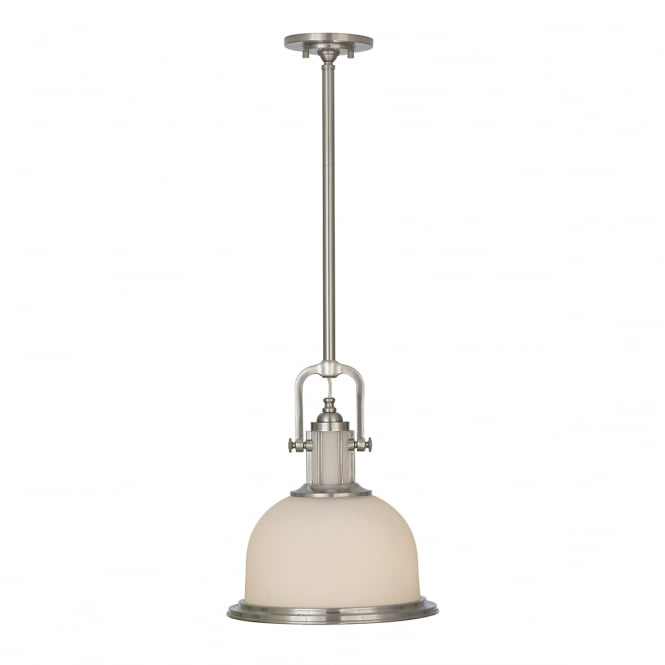 Feiss Parker Place 2Lt Pendant Brushed Steel