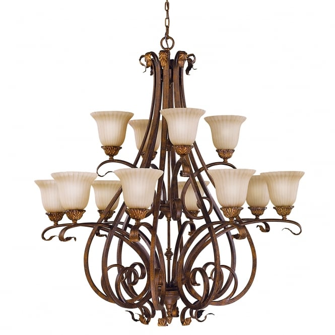 Feiss Sonoma Valley 12Lt Chandelier