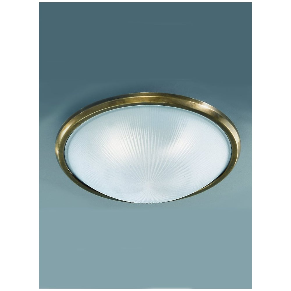 franklite cf5050 400mm circular flush ceiling light glass