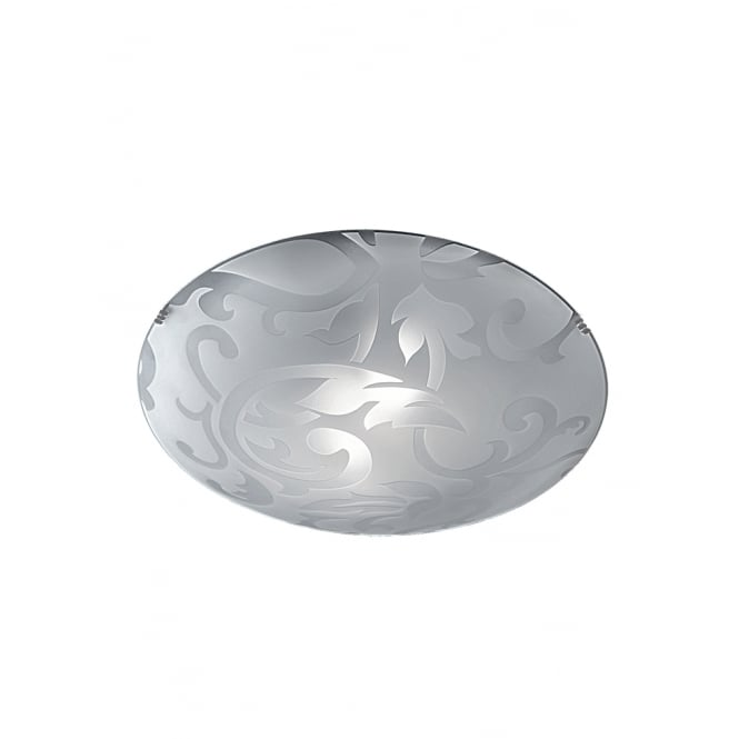 Franklite 400mm Circular Flush glass detailed ceiling light