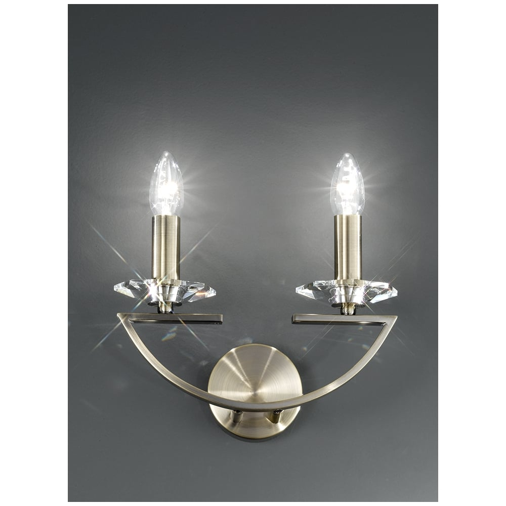 Franklite Crystal Wall Lights : Franklite - FL2242/2 Artemis bronze finish faceted crystal wall light