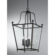 Atrio 4 light Lantern antique bronze finish