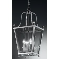 Atrio 4 light Lantern polished chrome finish