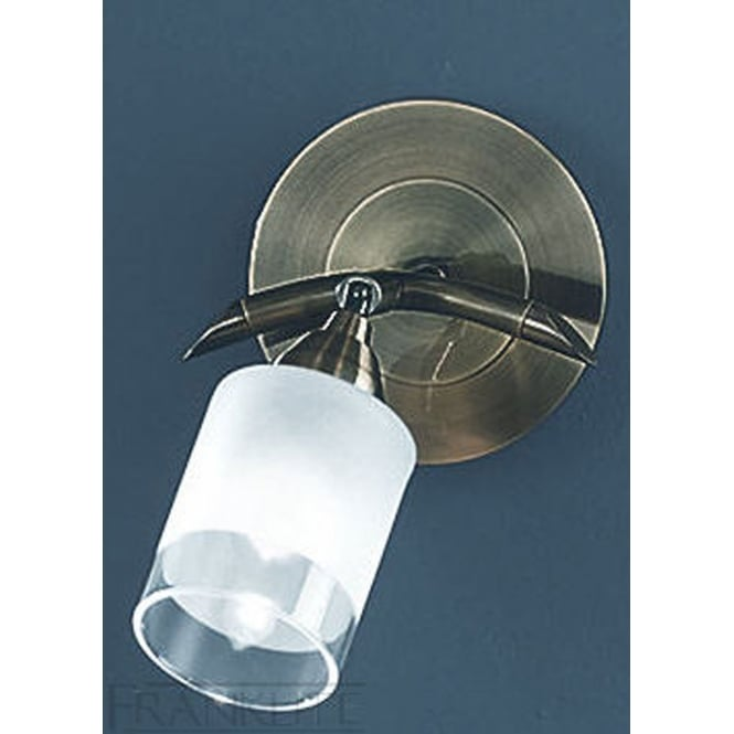 Franklite Campani bronze finish glass shade wall light