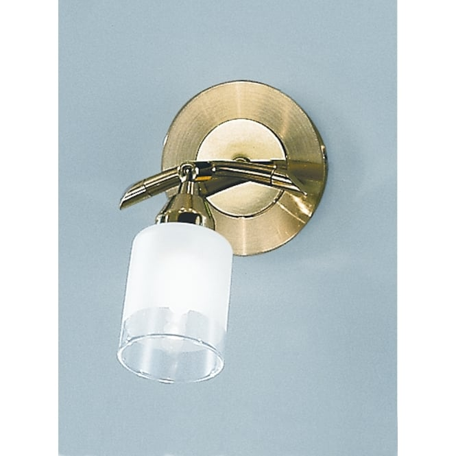Franklite Campani glass shade polished and satin brass wall light