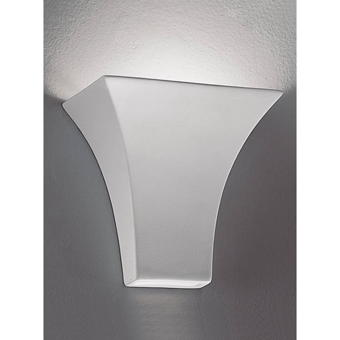 Franklite Ceramic Uplighter wall light