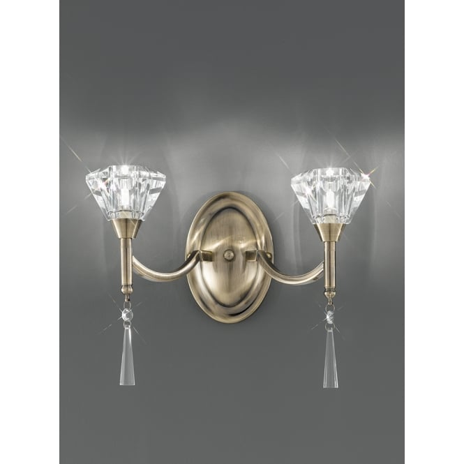 Franklite Desian bronze finish crystal droplets and sconce wall light