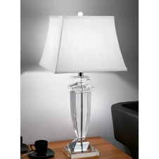 Hugo crystal clear glass table light with shade