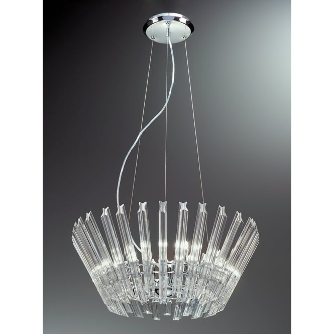 Franklite Imagine  concave angle cut crystal glass rods pendant