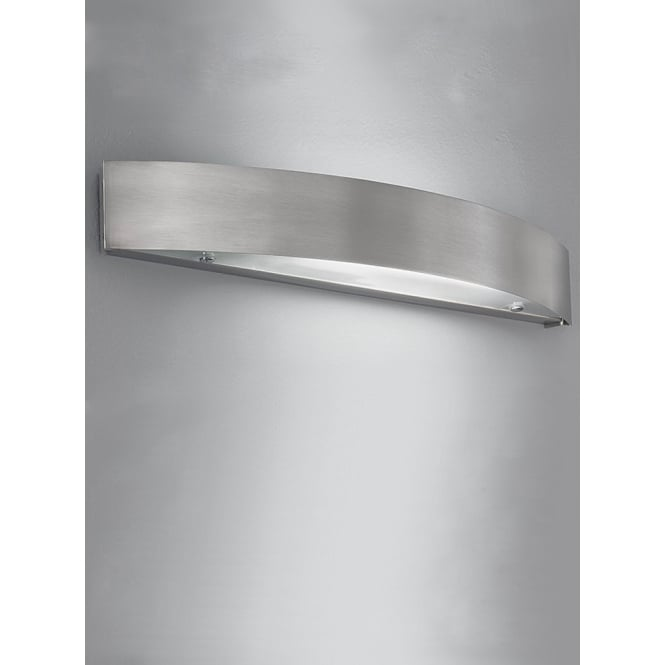Franklite low energy brushed aluminium finished wall light