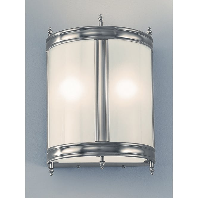 Franklite low energy glass pewter finish lantern wall light