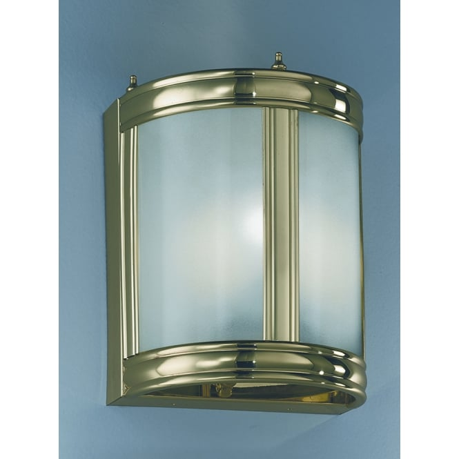 Franklite low energy polished brass finish glass lantern wall light
