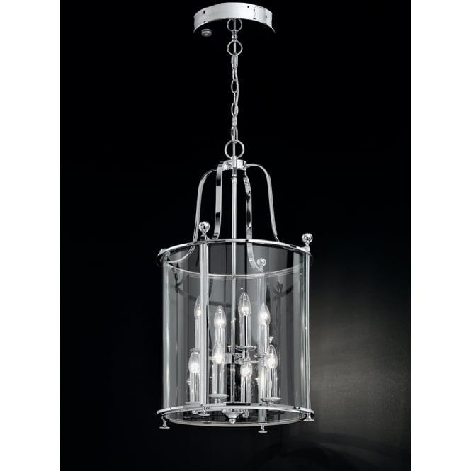 Franklite Pasillo 8 light Lantern polished chrome finish