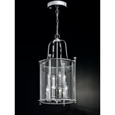 Pasillo polished chrome glass 4 light Lantern