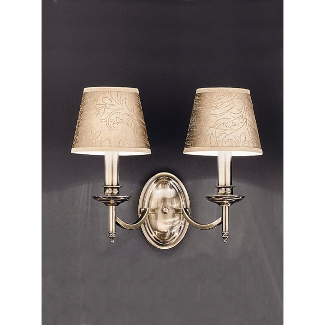 Franklite Petrushka 2 light wall light bronze finish