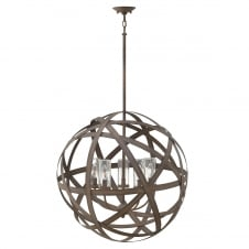 Carson 5 Light Outdoor Chandelier In Vintage Iron Finish