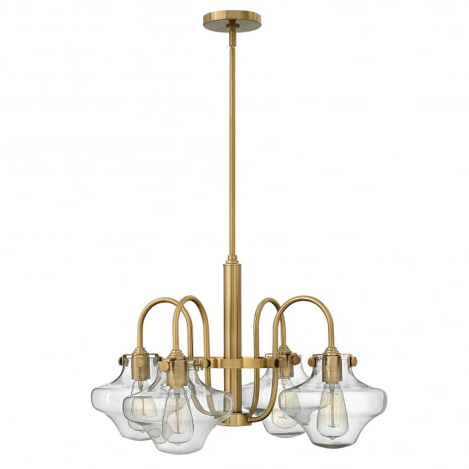 Hinkley Lighting Congress Clear Glass Chandelier