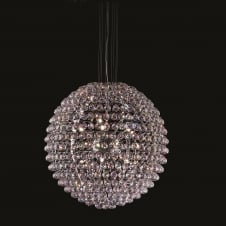 Luna Large Asfore Crystal Ball Ceiling Pendant