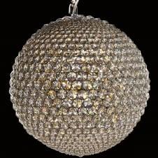 Milano 50cm Crystal Ball Clear Chrome Ceiling Pendant