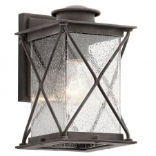 Argyle 1 Light Small Outdoor Wall Light In Weathered Zinc Finish