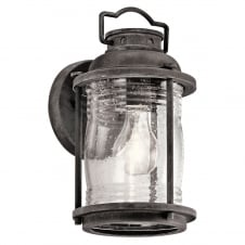Ashland Bay 1 Light Small Wall Lantern In Weathered Zinc Finish