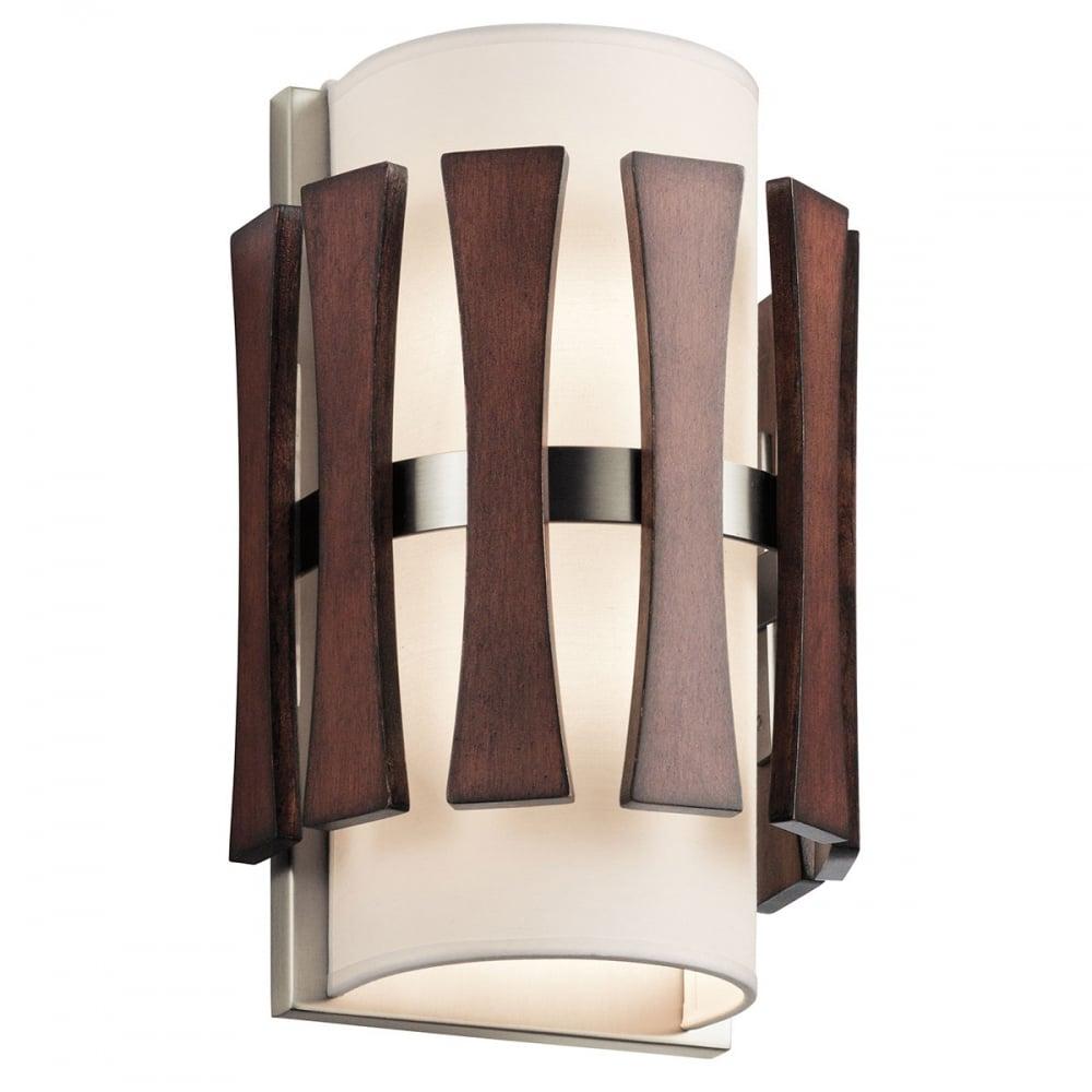 Wood Stain Dusk: Cirus 2 Light Wall Light In Auburn
