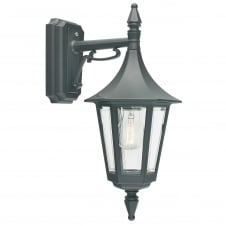Rimini Down Wall Lantern Black