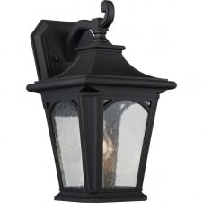 Bedford 1 Light Medium Wall Lantern In Mystic Black Finish