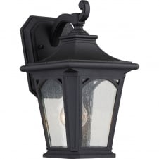 Bedford 1 Light Small Wall Lantern In Mystic Black Finish
