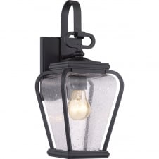 Province 1 Light Small Wall Lantern In Mystic Black Finish