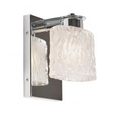 Seaview 1 Light Bathroom Wall Light In Polished Chrome Finish
