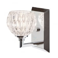 Serena 1 Light Bathroom Wall Light In Polished Chrome Finish